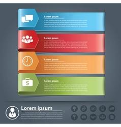 Arow business infographics vector image vector image