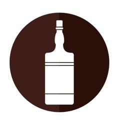 Bottle whiskey expensive liquor shadow vector