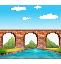 Bridge over the river vector image vector image