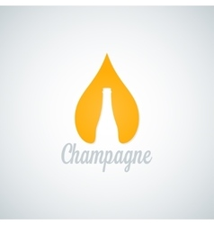 champagne glass bottle drop background vector image
