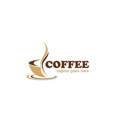 coffee cafe business logo vector image vector image