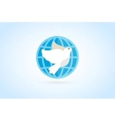 Dove logo icon vector image vector image