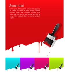Dripping paint vector