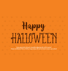 happy halloween style background card vector image vector image