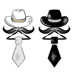 hat and tie vector image vector image