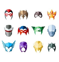 super hero masks for face character in flat vector image vector image
