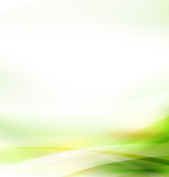 Abstract smooth green flow background vector
