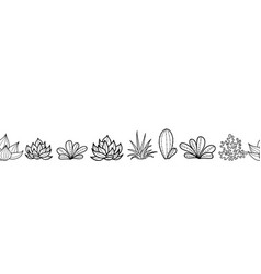 black and white seamless horizontal repeat vector image vector image