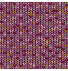 Knitted melange seamless pattern knitting craft vector image
