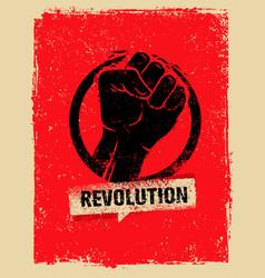 revolution socialprotest creative grunge vector image