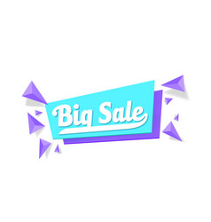 sale tag template vector image vector image