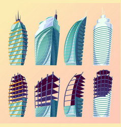 set cartoon of an abstract vector image