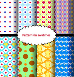 set pattern point vector image vector image