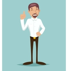 Support Idea Cartoon Businessman Character Icon vector image vector image