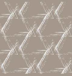 white grunge pyramids on a beige background vector image vector image
