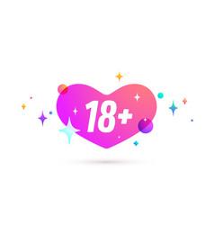 18 plus speech bubble vector image