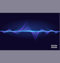 abstract colorful wave element for music design vector image