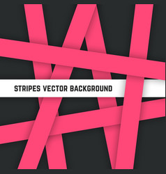 abstract pink stripes background vector image