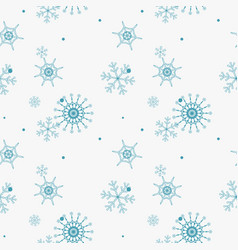 Abstract seamless pattern of falling blue vector