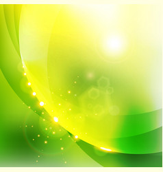 Abstract shining nature green color background vector
