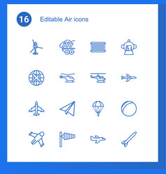 air icons vector image