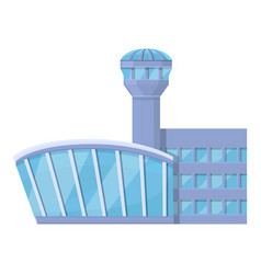 Airport control tower icon cartoon style vector