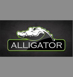 alligator vector image
