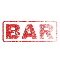 bar rubber stamp vector image