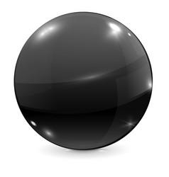 Black glass ball vector