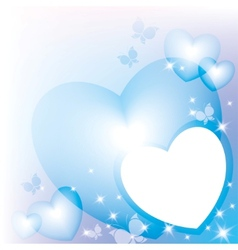 Blue hearts vector