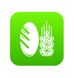 bread wheat icon green vector image