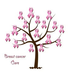 Breast cancer awareness tree vector image