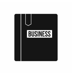 Business book with bookmark icon simple style vector image