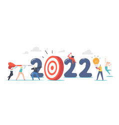 business characters throw huge darts into target vector image