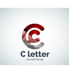 C letter concept logo template vector image