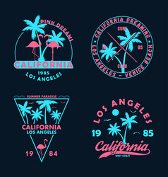 California badge set vector