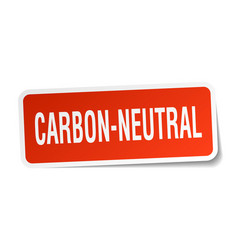 Carbon-neutral square sticker on white vector