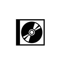 Cd dvd disc and box flat icon vector