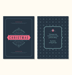 Christmas greeting card design template vector