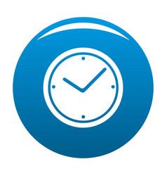 clock icon blue vector image