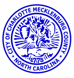Coat arms charlotte in north carolina is a vector