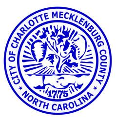 coat arms charlotte in north carolina vector image