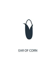 Corn icon simple gardening element symbol design vector