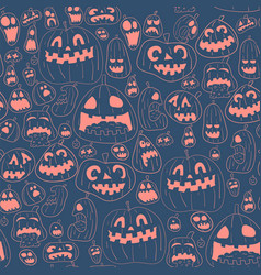 cororful halloween design pattern vector image