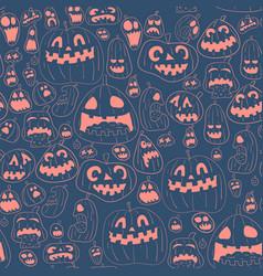 cororful halloween design pattern vector image