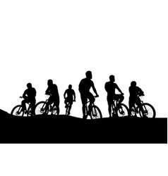 cyclists group 04 vector image