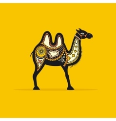 Decorative camel vector