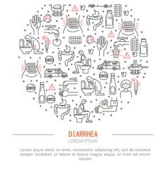 Diarrhea medicine vector