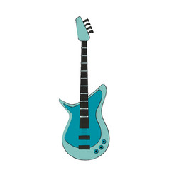 eletric guitar isolated vector image