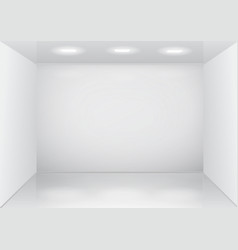 empty white room interior vector image